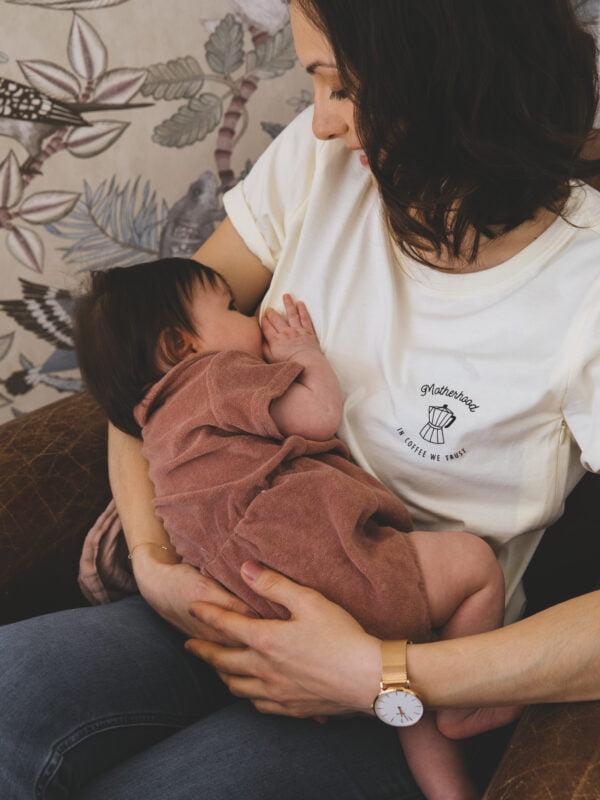 Tee shirt allaitement écru atelier belette motherhood