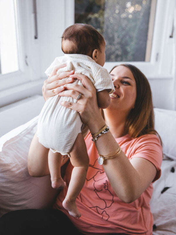 T-shirt corail kiss me baby atelier belette